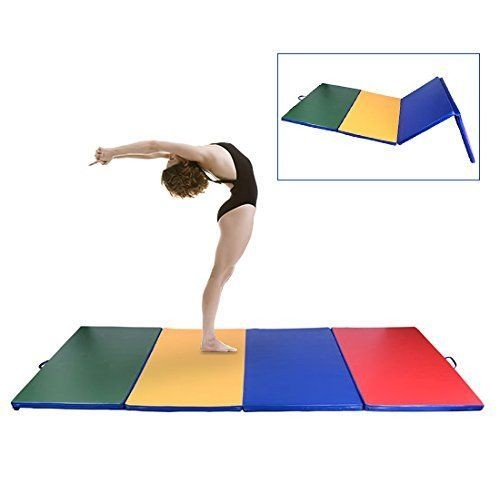 tapis de gymnastique pliable natte de gym matelas fitness 305x122x5cm multicolore. Black Bedroom Furniture Sets. Home Design Ideas