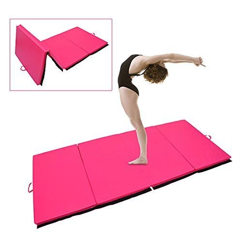 tapis de gymnastique pliable natte de gym matelas fitness 305x122x5cm rose 63. Black Bedroom Furniture Sets. Home Design Ideas