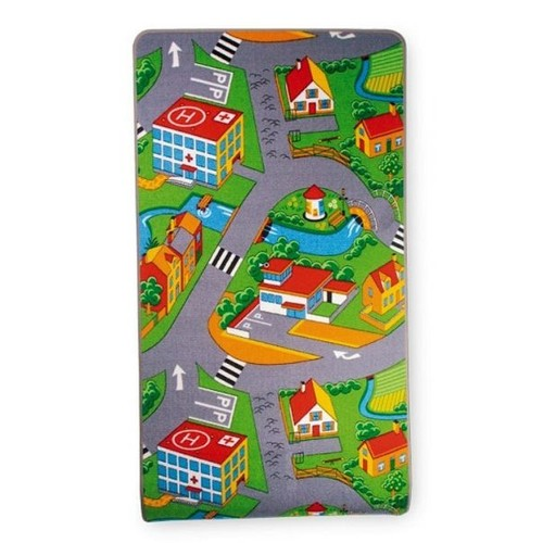 tapis de jeu pour enfants avec routes maisons parking etc. Black Bedroom Furniture Sets. Home Design Ideas