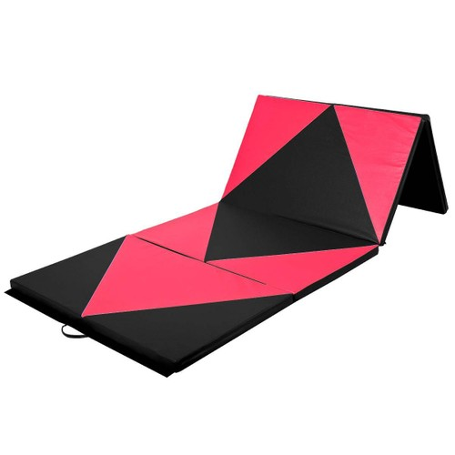 tapis de sol gymnastique pliable portable natte de gym matelas noir et rose. Black Bedroom Furniture Sets. Home Design Ideas