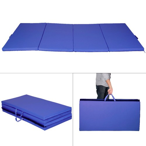 tapis de sol gymnastique pliable portable bleu natte de gym matelas. Black Bedroom Furniture Sets. Home Design Ideas