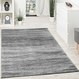tapis design poils courts fil brillant abstrait ornements gris anthracite blanc 160x230 cm. Black Bedroom Furniture Sets. Home Design Ideas