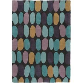 tapis en laine metrix cailloux mauve 200x300 cm tapis nature - Tapis 200x300