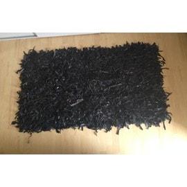 Tapis en lani res cuir noir pas cher achat vente priceminister rakuten - Tapis en cuir ...