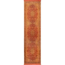 tapis poil ras de couloir avec impressions siljan beigeorange 80x300 cm tapis poil - Tapis Couloir