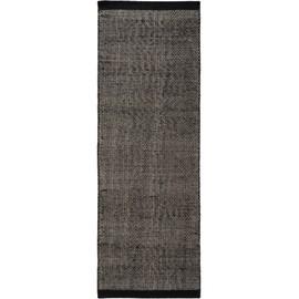 Tapis Poil Ras De Couloir Rocco Noir Blanc 80x250 Cm Tapis Poil