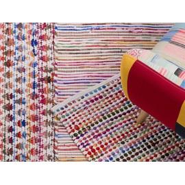 tapis rectangulaire en coton tapis multicolore 140x200 cm bariol arakli - Tapis Multicolore