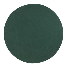 Tapis Rond Tisse A Plat En Coton Vert Anglais 120 Cm Pas Cher