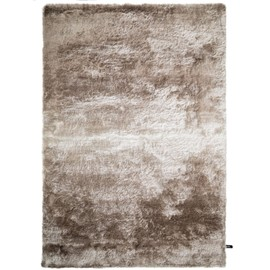 Tapis Shaggy à Poils Longs Whisper Beige Marron Clair 120x170 Cm