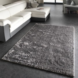 tapis shaggy gris 240x340 cm achat et vente priceminister. Black Bedroom Furniture Sets. Home Design Ideas