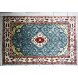 tapis turc fait main coton merceris 122x184 bleu indigo pas cher. Black Bedroom Furniture Sets. Home Design Ideas