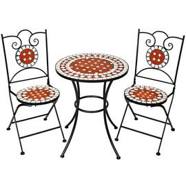 tectake mobilier de jardin mosa que table et chaises meuble bistrot bar terrasse balcon. Black Bedroom Furniture Sets. Home Design Ideas
