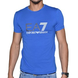 Armani T-shirt bleu à manches courtes Livraison Gratuite 2018 Unisexe oAQUwBZG0I