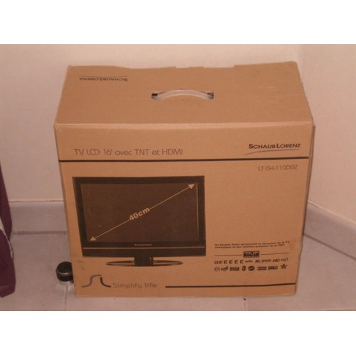 tv ecran plat lcd 16 schaub lorenz lt154 110db2 pas cher. Black Bedroom Furniture Sets. Home Design Ideas