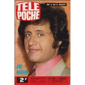 Tele Poche N° 594 Du 29/06/1977 - Joe Dassin - Lucien - tele-poche-n-594-du-29-06-1977-joe-dassin-lucien-rodriguez-champion-d-europe-de-boxe-1008434067_ML