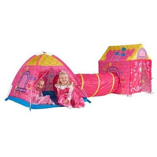 tente maison cabane tunnel tipi chateau princesse rose enfant fille. Black Bedroom Furniture Sets. Home Design Ideas