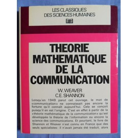 Th�orie Math�matique De La Communication de Warren Weaver, Claude Elwood Shannon & Abraham Andr� Moles