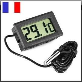 Thermometre digital encastrable cable sonde interieur for Termometre interieur exterieur