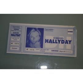 Ticket De Concert Avec Souche David Hallyday 11/11/1991 Amiens