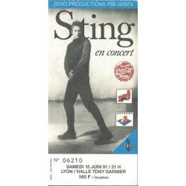 Ticket Du Concert De Sting Du 15 Juin 1991 � Lyon
