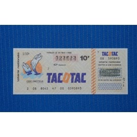 Ticket Tacotac Du 25 Mai 1988