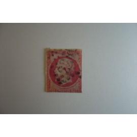 Timbre Napoleon Iii Second Empire 1853/60 80 C. Rose Ref Yt 17b