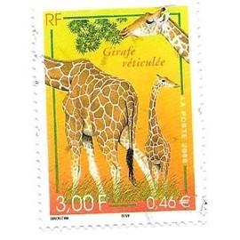 Timbre Oblit�r� De 2000,N�3333.Girafe R�ticul�e.