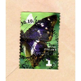 timbre-suomi-finland-finlande-papillon-a