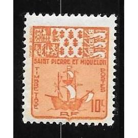 Timbre Taxe De Saint-Pierre-Et-Miquelon De 1947,N°67. - Achat et vente