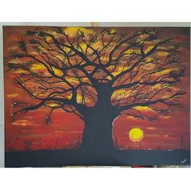 Toile Acrylique Baobab Couch� De Soleil Africain