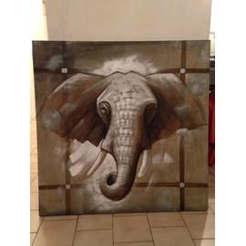 Toile Éléphant Maison Du Monde 99,5 X 99,5 Cm   Neuf et d'occasion