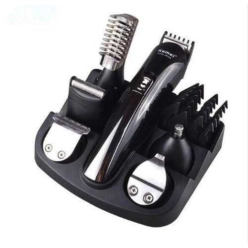 tondeuse titane 6 en 1 cheveux clipper rasoir lectrique barbe tondeuse hommes styling outils. Black Bedroom Furniture Sets. Home Design Ideas