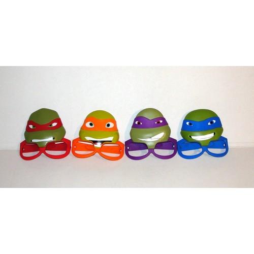 Tortue ninja jouet lunettes masque macdo serie complete 4 - Tortue ninja couleur ...