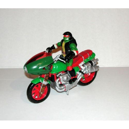 tortue ninja sur sa moto figurine playmates toys mirage