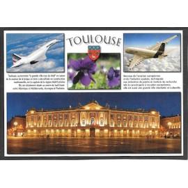 CARTE POSTALE--AVIATION--TOULOUSE--LA VILLE ROSE--CONCORDE