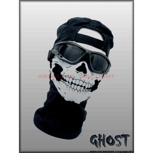 tour de cou masque ghost tete de mort skull call of duty modern warfare 3 mw3 cod black. Black Bedroom Furniture Sets. Home Design Ideas