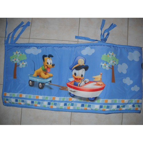 tour de lit disney mickey bleu pas cher priceminister. Black Bedroom Furniture Sets. Home Design Ideas