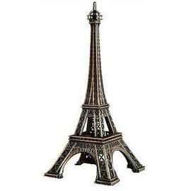 Tour Eiffel Reproduction Modèle Réduit 6 X 13,5 Cm . Réplique Miniature En Métal Couleur Bronze