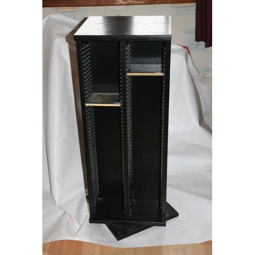 tour pivotante range cd noir achat et vente priceminister rakuten. Black Bedroom Furniture Sets. Home Design Ideas