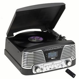 tourne disques radio cd bigben td79 nostalgia noir pas cher. Black Bedroom Furniture Sets. Home Design Ideas