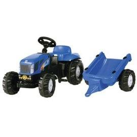 Tracteur p dales bleu new holland tvt190 avec remorque pour enfants d 39 environ 2 4 ans - Tracteur remorque enfant ...