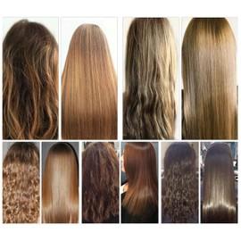 Lissage bresilien sur cheveux crepu court