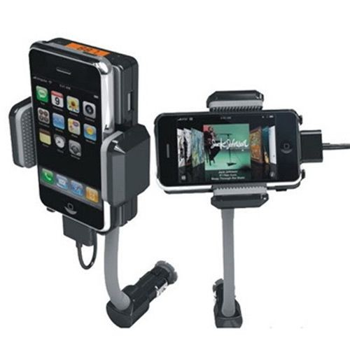 transmetteur fm iphone 4 iphone 3g 3gs avec t l commande support voiture chargeur allume cigare. Black Bedroom Furniture Sets. Home Design Ideas