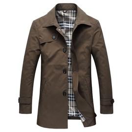 Veste Longue Vêtement Coat Homme Mi Casual D'automne Coupe Trench Slim 8wPk0OXn