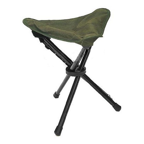 Trepied pliant vert olive od tabouret 3 pieds chaise siege for Chaise 3 pieds