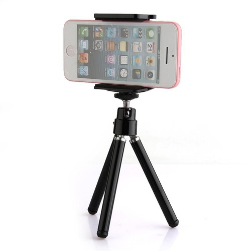 tr pied tripod support pince pour t l phone mobile apple iphone. Black Bedroom Furniture Sets. Home Design Ideas