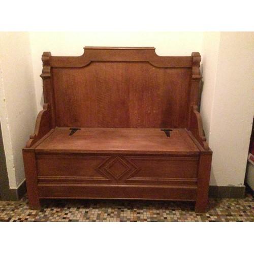 tr s beau banc coffre ancien en ch ne massif achat et vente. Black Bedroom Furniture Sets. Home Design Ideas
