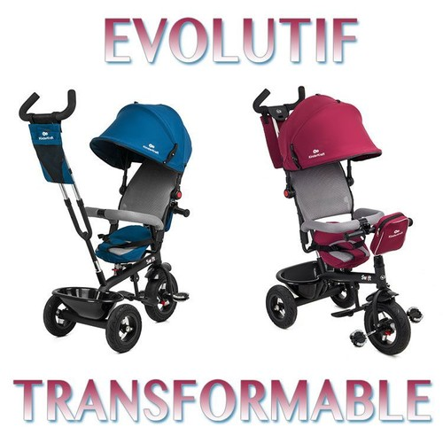 trike tricycle swift 3 roues 1 5 ans enfant b b poussette evolutif smart rouge. Black Bedroom Furniture Sets. Home Design Ideas