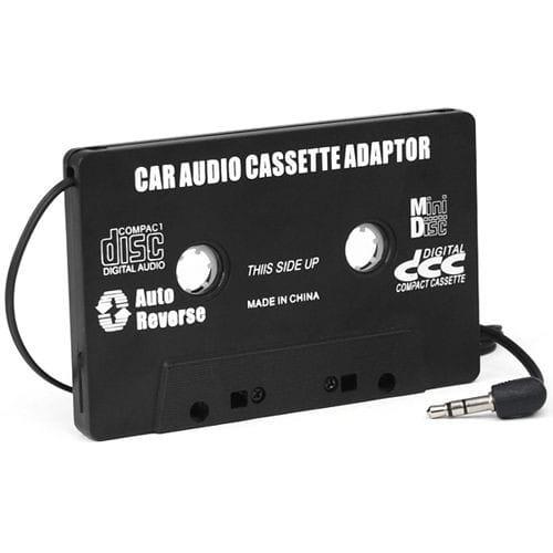trixes adaptateur cassette autoradio pour mp3 ipod nano md iphone noir. Black Bedroom Furniture Sets. Home Design Ideas