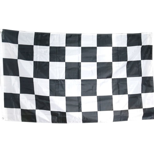 grand drapeau damier noir et blanc f1 course automobile 5 pieds x 3 pieds. Black Bedroom Furniture Sets. Home Design Ideas